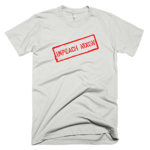 gray tshirt that says impeach nixon