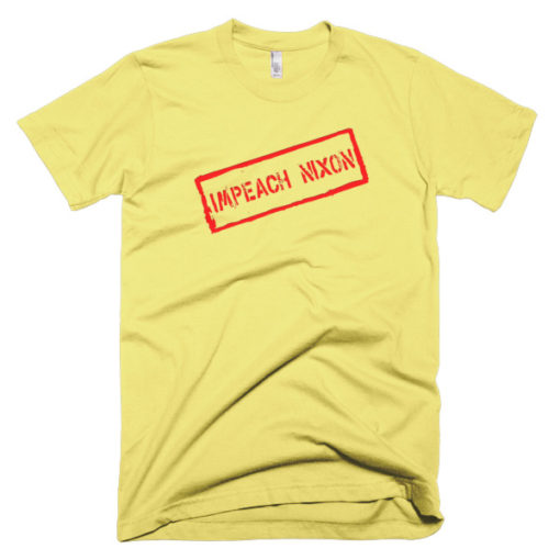 yellow tshirt that says impeach nixon