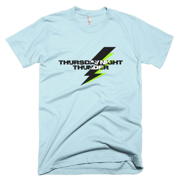 blue shirts that says thursday night thunder